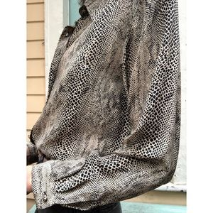 Vintage silk python print blouse